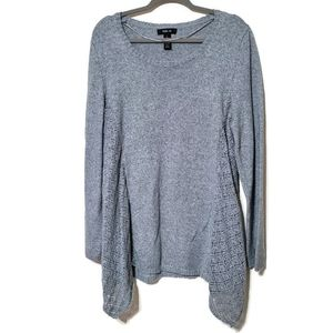 Style & Co gray long sleeved tunic length sweater